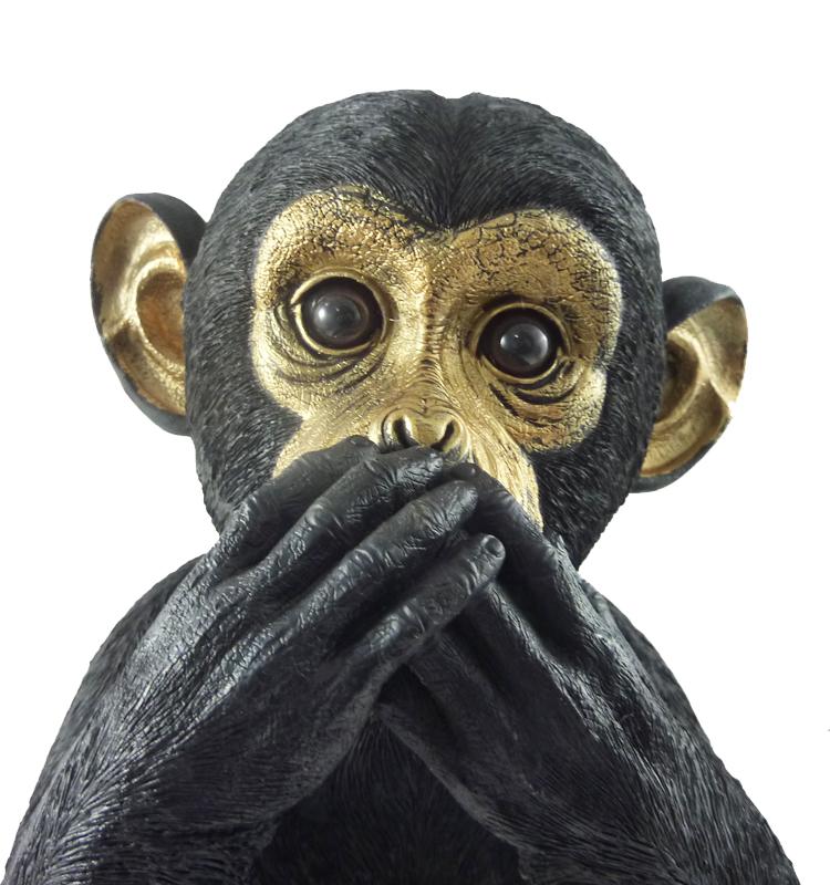 Affe der sich die augen zuhält